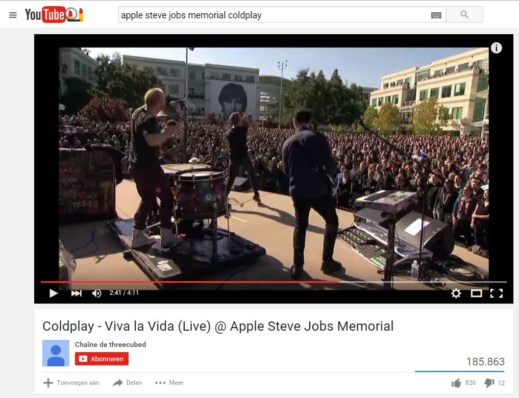 viva la vida coldplay steve jobs