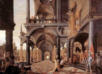 perspectief schilderij