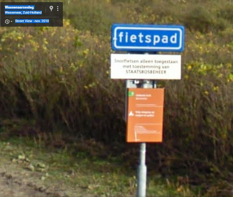 wassenaar fietsbord