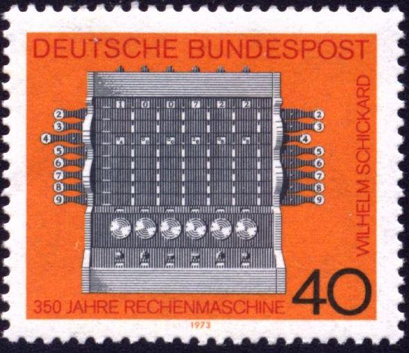 Schikckard postzegel
