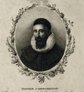 John Napier houtsnede