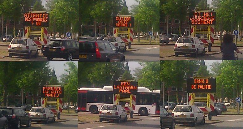 de politie waarschuwt