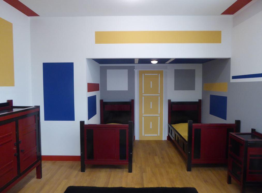 Mondriaan en de stijl my blog - Schilderij kamer ontwerp ...