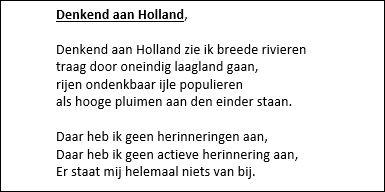denkend aan Holland kort 2