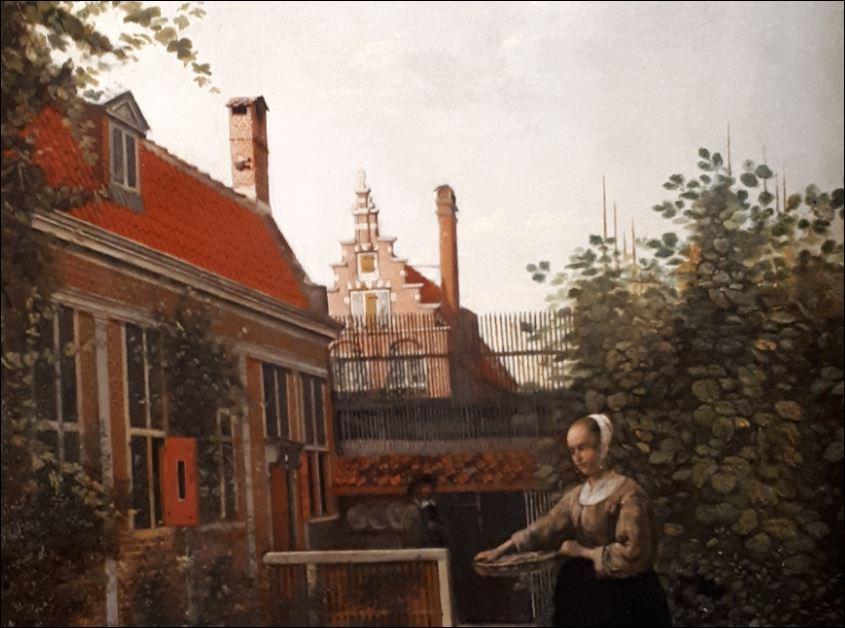 schilderij Pieter de Hoogh detail