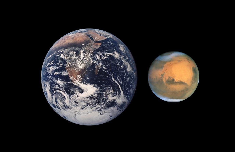 000000 kaart mars aarde