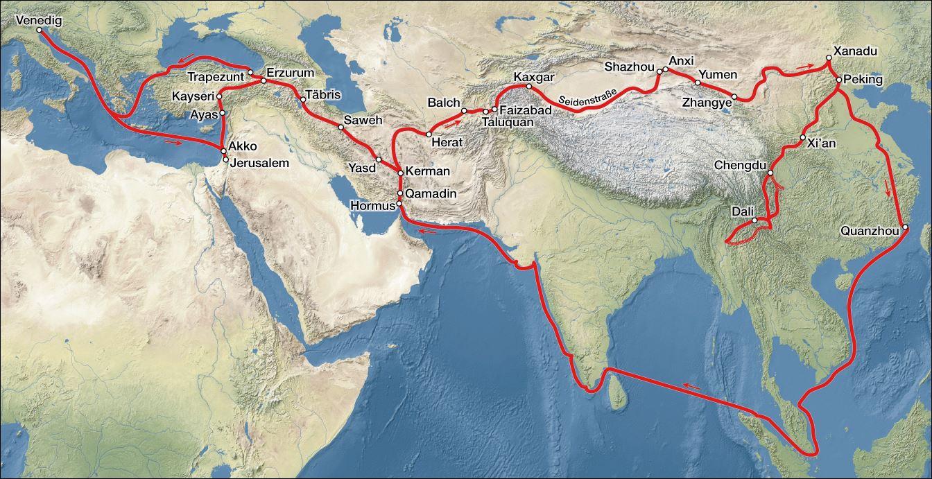 22 1000 - 15000 reisroute Marco Polo