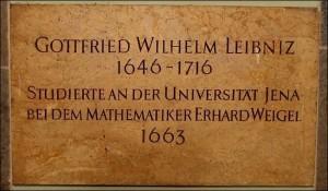 23 Leibniz herdenkplaat