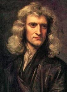 23 Leibniz portret van Newton