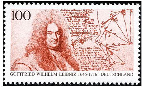 23 Leibniz postzegel